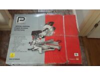 1800w 255mm 2 bar sliding mitre saw new in box