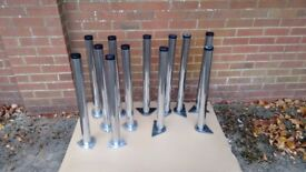 Chrome-Plated Table Legs (H)710mm