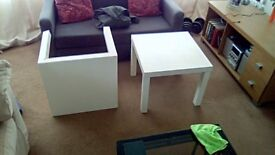 Two identical ikea tables