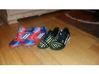 Football shoes Adidas f50 and Carbrini