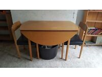 1950's table and 2 chairs