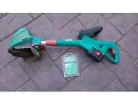 Bosch Accutrim Strimmer with charger and pack of spare blades