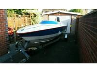 Speed boat, 19ft, with 125hp Mercury Outboard Engine