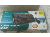 Logitech Cordless keyboard and optical mouse