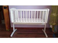 Mothercare Swinging Crib - White, incl. mattress