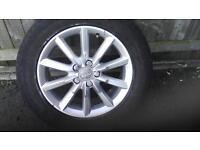 Audi Q3 ten spoke alloy wheel only(tyre damaged)