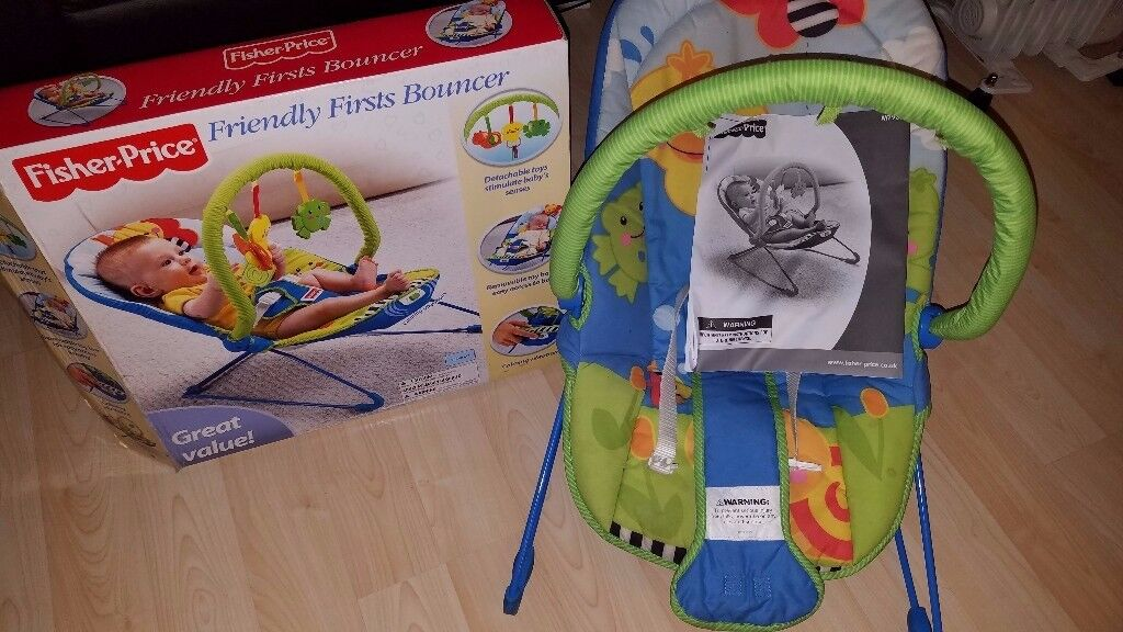 Fisher-price friendly first bouncer #Boxed almost new# 20 pounds only.
