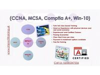 CCNA (R&S), MCSA Server 2012 R2, Comptia A+