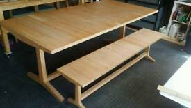 Habitat Parker Oak Dining Table and Bench