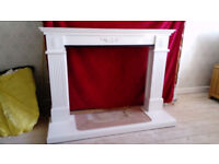 White Fireplace Surround with detachable Hearth. £50 ono