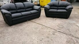 ITALIAN SOFA MESSICO 3+2 IN BONDED LEATHER BRAND NEW PACKED CLEARANCE STOCK £699 A SET RRP £2000
