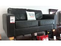 Brown Leather Sofa. BRITISH HEART FOUNDATION