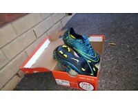 Childrens size 3 football boots, like new in box