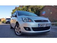2007 Ford Fiesta 1.4 Zetec 5dr , warranted Low Mileage , Tinted Glass , Low Road Tax & insurance