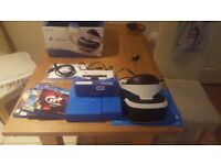 Playstation vr like new comes wit box instruction all wires plus Web cam and 3 new games