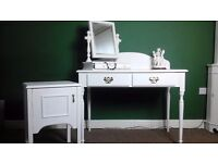 Stunning Dressing Table, Mirror and Bedside Table -Hand Painted - Annie SLOAN