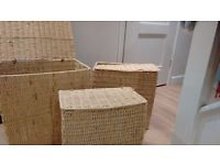 Storage Boxes - Hamper style set of three