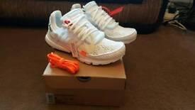 Off White x Nike Presto White UK8