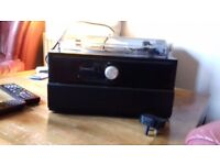 Electric record player built in speakers