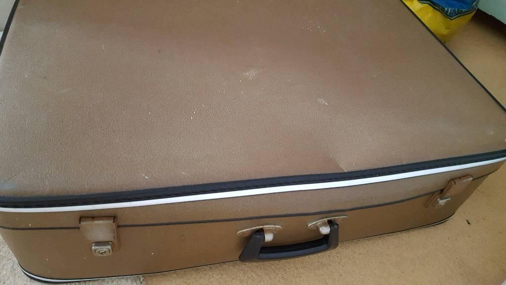 Brown retro suitcase
