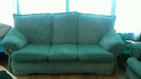 3+2 green sofas for sale