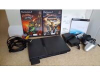Slimline PS2 NTSC Output, 2 Games and 1 Controller