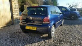 Volkswagen Polo dark blue 1.2 2007 1 previous owner £2300
