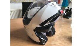** Like New • HJC IS-Max 2 Flip-Up Helmet White Large • w/ Anti-Fog Lens & Visor Cleaner • £170 RRP!
