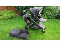 Britax b-dual double pushchair with extras