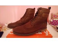 Superdry brad Brogue leather boots. Size 10. New in box