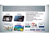 CCNA (R&S), MCSA Windows Server 2012, Windows-7, Windows-10 Training
