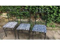 Metal outdoor chairs