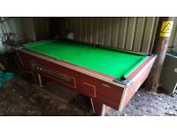 8ft by 4ft 6inch Slate Pool table