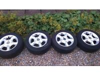Alloy wheels and tyres 4x100