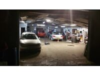 Fully equipped mechanical garage outer office and a full yard
