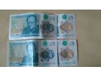 new 5 pounds notes,