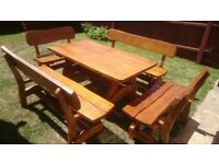 Unique Hand made Hardwood Oak garden furniture sets, swings, rocking chairs, etc...