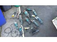 Makita and Bosch grinders