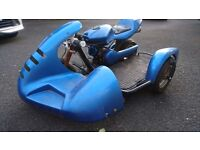 VINTAGE YOUTHS 50CC RACING MOTORCYCLE COMBINATION DISCS STORED 2 YEARS NEARLY STARTS NEEDS TLC