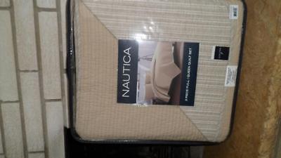 NAUTICA 3 piece Full/Queen Quilt Set