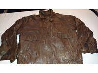 Vintage Real Leather Jacket Brown