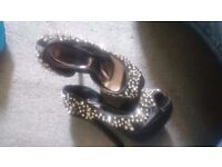 Size 3 spiked heels