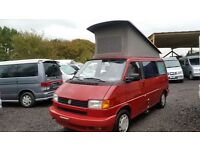 RUST FREE VW WESTFALIA T4 TRANSPORTER POP TOP 4 BERTH AUTOMATIC LHD 2.5 PETROL AC E/WINDOWS,PAS