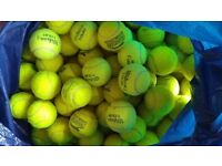 Around 400 Tennis balls - YELLOW,GREEN,ORANGE,RED..Lots of other tennis stuff-rackets,clothes,books