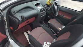 Peugeot 206 2005 4 door drivers side damage - spares or repair