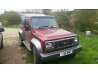 DAIHATSU 4X4 INDEPENDANT 8 MONTHS mo MANY NEW PARTS FITTED NOT BEEN OFF ROAD WILL NOT LET YOU DOWN