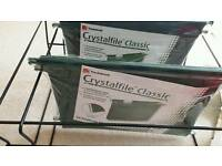 Crystalfiles with hanging frame