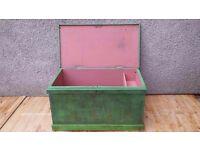 Pine antique chest/trunk