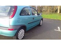 2003,, corsa ,, low miles,, service history,, very clean,,£499