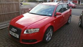 Audi A4 Quattro Avant S Line 2.0Turbo 2007 Red with 12 months MOT and low mileage